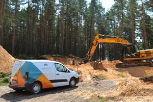 Construction has begun in a new village, Bergu Skati. Real Estate Company is LAND & HOME